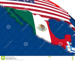 Mexico On Map Mexico On 3d Map With Flags Stock Illustration Image 73329838