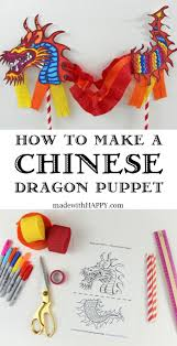 New Year Decoration Vocabulary by Chinese Dragon Puppet Dragon Crafts Dragons And Craft
