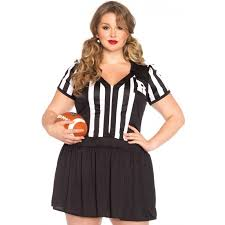 referee costume halftime hottie plus size womens referee costume costumes