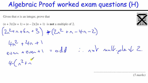 how to do algebraic proof gcse maths revision higher level exam