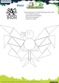 shapethon parrot math worksheet for grade 1 free u0026 printable