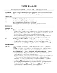 Sample Resume Of Cpa by Resume Cpa Sample Resume
