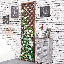 amazon com rectangular wood garden trellis wall mounted lattice