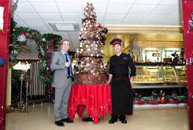 newport chefs to auction six foot chocolate christmas tree for