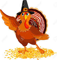 illustration of happy thanksgiving turkey presenting royalty free