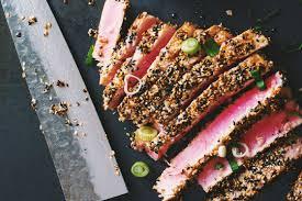 comment cuisiner le thon steak de thon avec croûte de sésame le coup de grâce