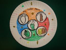 passover paper plates seder plates were created by coloring cutting and gluing seder