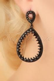 20 s earrings 20s helen earrings in black