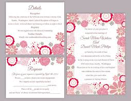 printable invitation templates diy wedding invitation template set editable word file instant