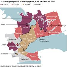 Capital Of Canada Map by Toronto U0027s Vexing Housing Bubble Is Spreading This Map Says It All