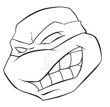 ninja turtle face coloring pages