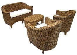 divanetto vimini salotto giardino bar in vimini bamb禮 rattan sedie divano