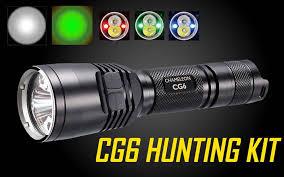 green light for hog hunting nitecore cg6 440 lumen green white led flashlight hunting kit