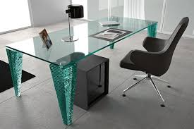 Glass Office Desk Office Bring Modern And Trendy Look With Glass Office Desk