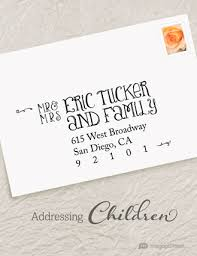 wedding invitations how to address how to properly address wedding invites to include children