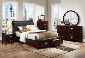 espresso queen bedroom set lyric modern dark espresso queen storage sleigh platform bedroom set