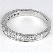 antique art deco diamond wedding band white gold 61821