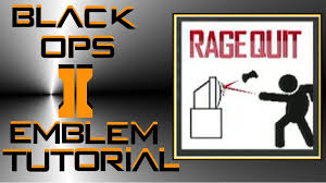 Call Of Duty Black Ops 2 Memes - call of duty black ops 2 funny rage quit emblem tutorial youtube