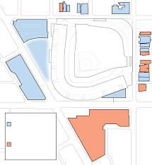Chicago Cubs Map by New Building Construction Around Wrigley Field Chicago Tribune