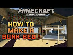 How To Make A Bunk Bed Minecraft PE Tutorial YouTube - Minecraft bunk bed