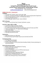 Sample Resume For Therapist by Awesome Sample Physical Therapist Resume Resume Format Web