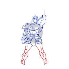 draw shredder teenage mutant ninja turtles step step