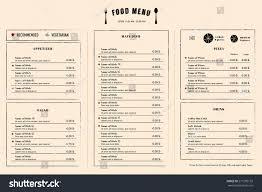 restaurant menu design template layout logo imagem vetorial de