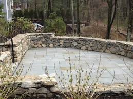 Dry Laid Bluestone Patio by Yard Works Portfolio Retaining Walls