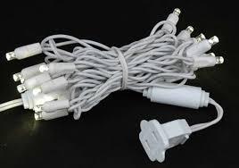 white wire commercial grade mini light sets