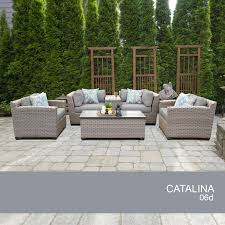 catalina 6 piece outdoor wicker patio furniture set 06d ebay
