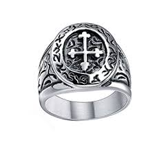 men vintage rings images Stainless steel celtic cross band vintage medieval biker ring for jpg