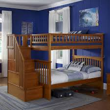 How To Build A Loft Bunk Bed With Stairs by Woodland Twin Over Twin Staircase Bunk Bed Hayneedle