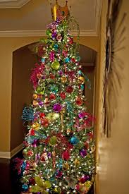 christmas tree with colored lights funky colored christmas tree put a little holiday in your heart