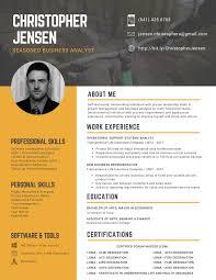 Best Resume Format Business Analyst by Custom Professional Resume Design Services Orlando Sitecore