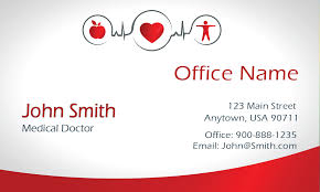 gradient family doctor business card design 301501