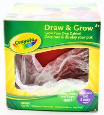 set of 2 crayola draw u0026 grow complete flower pot kit kid craft red