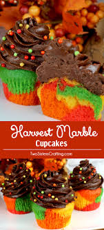 harvest marble cupcakes fall bake sale marble cupcakes and fall