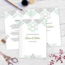 wedding program diy wedding program by weddingstationerydiy diy