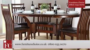 townhouse oval extending dining table dark from furniture choice