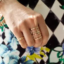 fashion double rings images Double band ring gold and rose gold t j designs jpg
