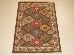 4 x 6 wool hand knotted oriental area rugs afghan ankhoy kazak