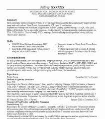 Qa Resume With Retail Experience Best Quality Assurance Resume Example Livecareer