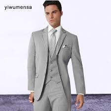 costard homme mariage yiwumensa custom made gray s suits terno slim fit costume