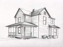 drawing houses design a house in 2 point perspective drawing class pinterest