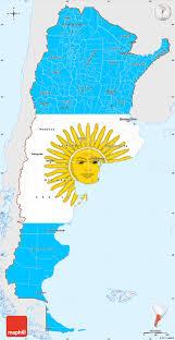 Outside Flag Flag Simple Map Of Argentina Single Color Outside Flag Centered