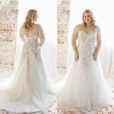 charming plus size wedding dresses with half sleeves illusion a