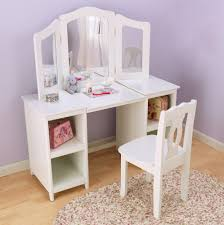 bedroom nice white makeup vanity table with lighted mirror for