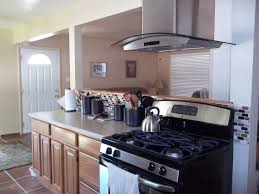 oak kitchen cabinets with free standing vent hood rta kitchen