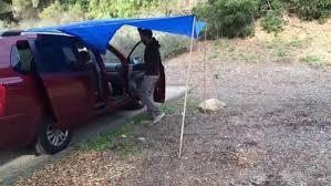 Diy Roof Rack Awning Couple Convert Their Minivan Into A Diy Micro Motorhome
