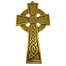 celtic crucifix brass celtic cross wall hanging made home kitchen